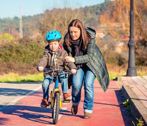Nauciti dijete voziti bicikl