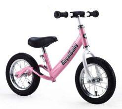 Djecji bicikl bez pedala rozi (1)