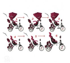 Dječji tricikl Modi crveni