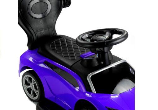 Djecja guralica Automobil s drskom plava 1