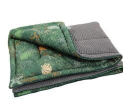 Pamučna deka Cotton-waffel 75x100 Školjkice i zelena