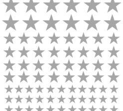 Zidne naljepnice Zvijezde srebrne