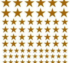 Zidne naljepnice Zvijezde zlatne