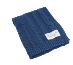 Pamučna deka za bebe plava
