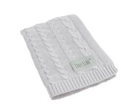 Pamučna deka za bebe nježno siva