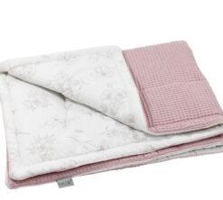 Pamučna deka Cotton-waffel 75x100 Love i roza