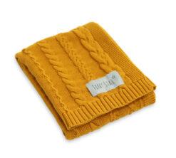 Pamučna deka za bebe Mustard