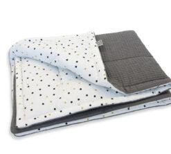 Pamučna deka Cottonwaffel 75x100 Confetti i siva