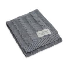 Pamučna deka za bebe siva