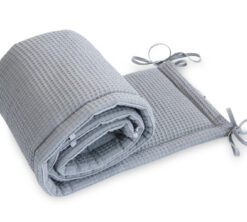 Ogradica za krevetić Cottonwaffel siva