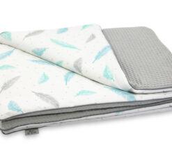 Pamučna deka Cotton-waffel 75x100 siva i Plumes