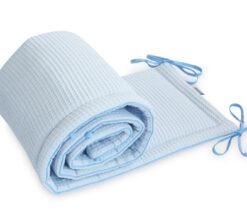 Ogradica za krevetić Cottonwaffel Baby plava