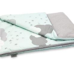 Pamučna deka Cotton-waffel 75x100 siva i Minty Puffs